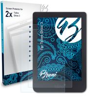 Bruni Basics-Clear 2x Schutzfolie kompatibel mit Tolino Shine 3 Folie