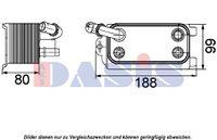 AKS DASIS Ölkühler Motoröl für VOLVO XC60 V70 III BW V60 XC70 II S80 II AS