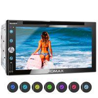 XOMAX XM-2D6911 2DIN Autoradio mit DVD-/CD-Laufwerk, SD, USB und BLUETOOTH