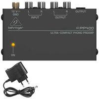 Phono-Vorverstärker, kompaktes Aluminium-Gehäuse, für Plattenspieler mit MM-Abtast-Systemen, schwarz