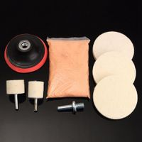 8x Ceriumoxid Glas Polierset Windschutzscheibe Kratzer Entferner + Filz +Pad Kit