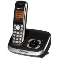 Panasonic KX-TG6521, DECT-Telefon, Freisprecheinrichtung, 100 Eintragungen, Anrufer-Identifikation, Schwarz