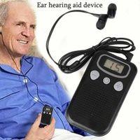 Digital LCD Ohr Hörgerät Ton Hörverstärker Verstärker Hörhilfe mit Kopfhörer DE