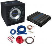 CRUNCH CBP500 komplettes Basspaket Verstärker, Subwoofer und Kabelset