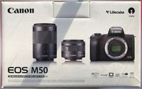 CANON EOS M50 24.1 MP Systemkamera + Objektive 15-45mm & 55-200mm