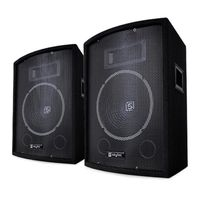"Skytec SL10 Passiv-Box Lautsprecher 2er-Set - 10"" (25 cm) Woofer, Leistung: 150, 250 W max. 500 W Spitze, 2-Wege-Bassreflex, Piezohorn, Monitor"