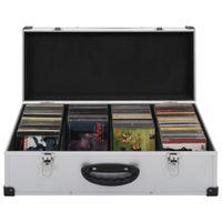vidaXL CD-Koffer für 80 CDs Aluminium ABS Silbern