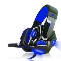 Gaming Kopfh?rer Gaming Kopfh?rer Gaming Headset Blau Kabelig fš¹r PC Surround