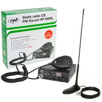 CB PNI ESCORT HP 8000L ASQ-Radiosenderpaket + CB PNI Extra 45-Antenne mit Magnet