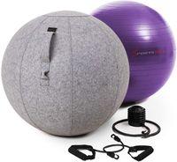 Sportstech Gymnastikball 65cm - Zuhause & Büro | Sitzball ergonomisch für Yoga, Pilates, Schwangerschaft & Home Gym | Massage Ball/ Balance Stuhl, Beckenboden Trainingsgerät + Fitness Zubehör| YOBA100