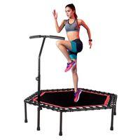DAYUANDIAN Trampolin mit Griff  Fitness Trampolin Indoor/Outdoor Jumping Armlehne