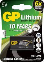 GP Batterie Lithium (9 Volt E-Block, CR-V9) 10 Jahres Batterie ideal für z.B. Rauchmelder