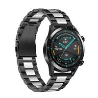 22mm Uhrenarmband Edelstahl Uhrenarmband  Kompatibel mit HUAWEI UHR GT2 46mm / HONOR MagicWatch2 46mm / HONOR MagicWatch