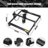 ATOMSTACK® DIY CNC Pro Graviermaschine Laserengraver Kits 410X400 mm 12 V USB Desktop Laser Engraver (Schwarz, 20W)