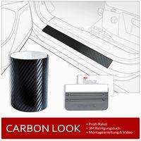 Einstiegsleisten Schutzfolie Set Lackschutzfolie für Ford Kuga 3 ab Bj. 2020-, Farbe:Carbon-Look