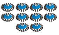 10x Kegelbürste Ø 125 mm gezopft M14 Drahtbürste für Winkelschleifer