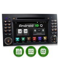 XOMAX XM-D10ZA: 2DIN Autoradio mit Android 10 Navi 7 Zoll Touchscreen Monitor, Bluetooth, DVD, CD, SD und USB (passend für Mercedes)