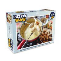 Puzzle 500 Teile - Käsefondue mit Schweizer Käse für eine Familie