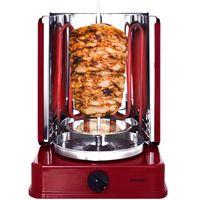 Syntrox ROQ-1400W-R Rot - Rotisserie Dönergrill Gyros Schaschlik Grill mit 6 drehbaren Außenspießen und Timer
