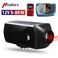 HCalory 12V 5KW-8KW einstellbar Standheizung Neueste LCD Anzeige Diesel Luft Dieselheizung für Auto LKW Wohnmobil Bus