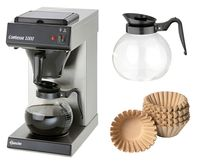 Kaffeemaschine Contessa 1000 + 250 Korbfilter + 2. Glaskanne