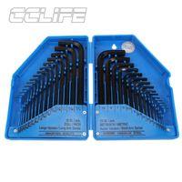 CCLIFE 30 tlg Metrisch Innensechskant Satz HX Profi Innensechskantschlüssel 0,7-10 mm