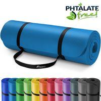 TRESKO Yogamatte 190x100x1,5cm Fitnessmatte Gymnastikmatte Pilates Blau