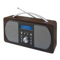 Soundmaster DAB600 Digitalradio, DAB+/UKW, Weckfunktion, in hell- o. dunkelbraun Farbe: Dunkelbraun