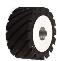 Zahnoberfläche Aluminiumkern Gummi Kontaktrad Bandschleifmaschine Belt Conveyor Wheel 100 * 50 * 25mm