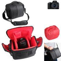 Für Canon EOS 250D Kameratasche Fototasche Umhängetasche Schultertasche Zubehör Tasche für Canon EOS 250D mit Zusatzfächern, Regenschutz und frei