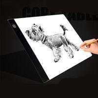 Leuchtplatte LED Licht Pad A4 Tragbare Light Pad USB Kabel für Designen Malen Zeichnen Animation Skizzierung