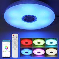 60W Dimmbare LED RGBW bluetooth Musik Lautsprecher Deckenleuchte APP Remote Schlafzimmer