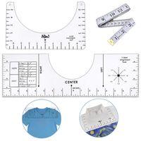 Alignment Tool Nählineal T-Shirt Lineal Anleitung Kleidung Kalibrierung Ausrichtungswerkzeug Acryl
