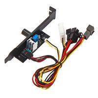3-Pin PC 12V PCI-Blende Lüftersteuerung für Computer, Eingangsspannung 3,7 V-12 V (einstellbar)