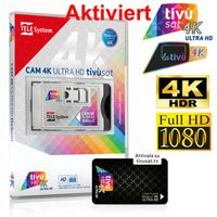 Aktiviert!!!!!TivuSat Telesystem CI+ Smarcam 4K ULTRA HD inklusive BLACK Smartcard