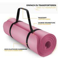 Yogamatte, TPE Yogamatte, Trainingsmatte, Trainingsmatte, Fitnessmatte, rutschfeste Naturkautschuk-Trainingsmatte, Yoga, Pilates, Fitness-Yoga-Handtuch und -Tasche, 183 x 61 x 0,4 cm