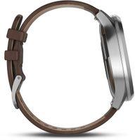 Garmin vivomove HR Premium silber/dunkelbraun L