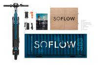 Soflow SO3 Gen 2 7.8 AH Faltbarer E-Scooter Roller inkl. dt. Straßenzulassung Blinker