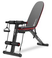 Hop-Sport klappbare Hantelbank HS-1030 mit Beinfixierung - verstellbare Trainingsbank fürBankdrücken oder Sit-ups