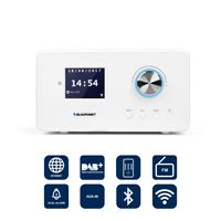 Blaupunkt IRD 300 WLAN Internet Radio, DAB+, Bluetooth, UKW, Küchenradio, Radiowecker, Uhrenradio, Fernbedienung
