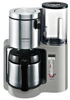 Siemens TC 86505 Filterkaffeemaschine, 1100 Watt, 1 l F?llmenge, Isolierkanne, 12 Tassen, Zeitschaltuhr, Aromawahl, Abschaltautomatik, Entkalkungsfunktion