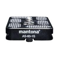 Mantona AS-60-1S Schnellwechselplatte Arca-Swiss kompatibel, 60x38 mm