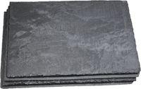 Schieferplatten im 6er Sparset 30x20cm | schwarz Kanten und Oberfläche gespalten