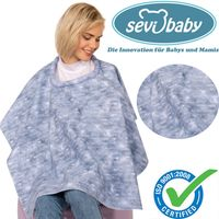 Sevibaby Baby Abdecktuch Stilltuch Jeans Stillschürze Stillcape Stillponcho 6280-30