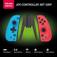 Joy-Controller 2er Set wireless für Nin Switch mit Grip, blau rot Eaxus