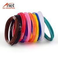 Anet 10 stücke 1,75mm PCL Filament Umweltfreundliche Material 3D Stift Filament Minen Premium Set von 10 Verschiedenen Farben für TECBOSS SUNLU Anet 3D Druck Stift Drucker (Jede farbe 5 mt, Insgesamt 50 mt)