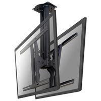 """Die Deckenhalterung von NewStar Modell PLASMA-C100D ein zweiseitiger dreh- und schwenkbare Deckenhalterung für Flachbildschirme und Flachbild-Fernseher bis 60"""" (150 cm). - Bildschirmgröße: 68,6 cm (27 Zoll) bis 152,4 cm (60 Zoll) - max. 50 kg Traglast - Schwarz"""