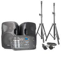 Vexus PSS302 mobiles PA-Audiosystem 300W max. Bluetooth USB SD MP3 2x Stativ 1x Mikrofon
