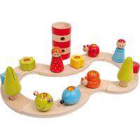 Small Foot 3365 Geburtstags-Kerzenhalter 'Variabel' aus Holz, mehrfarbig, 13-teilig (1 Set)