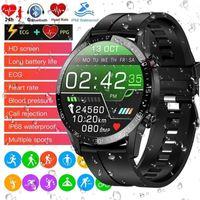 ATOKIT IP68 Wasserdichter Fitness Tracker EKG Herzfrequenz Blutdruckmessgerät Bluetooth Musik Armbanduhr Armband Smart Band Outdoor Sport Smartwatch Schwarz